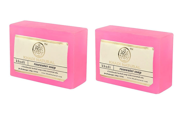 3. Khadi Rose-Sandal Soap
