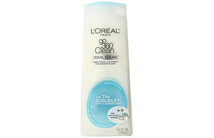 3. L'Oreal Paris Go 360 Clean Ideal Clean Deep Facial Cleanser For Sensitive Skin