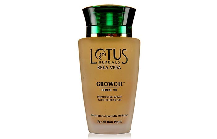 3. Lotus Herbals Kera-Veda Grow Oil Herbal Oil For Falling Hair