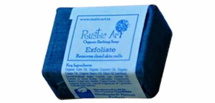3. Rustic Art Organic Exfoliate Soap