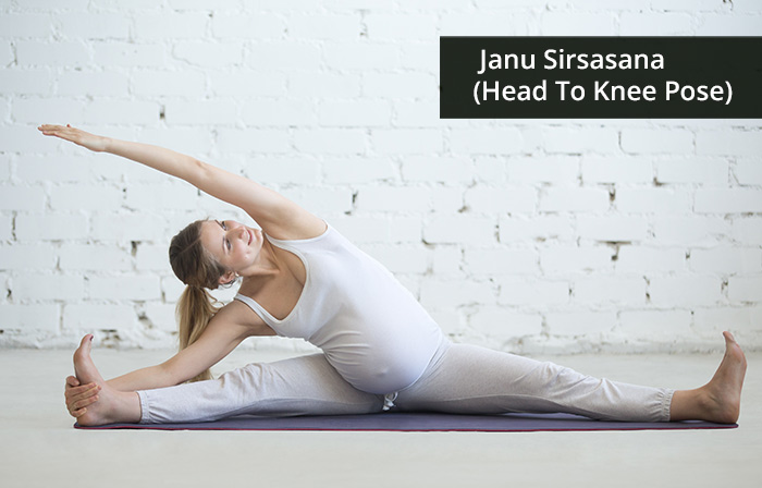 5. Janu Sirsasana (Head To Knee Pose)
