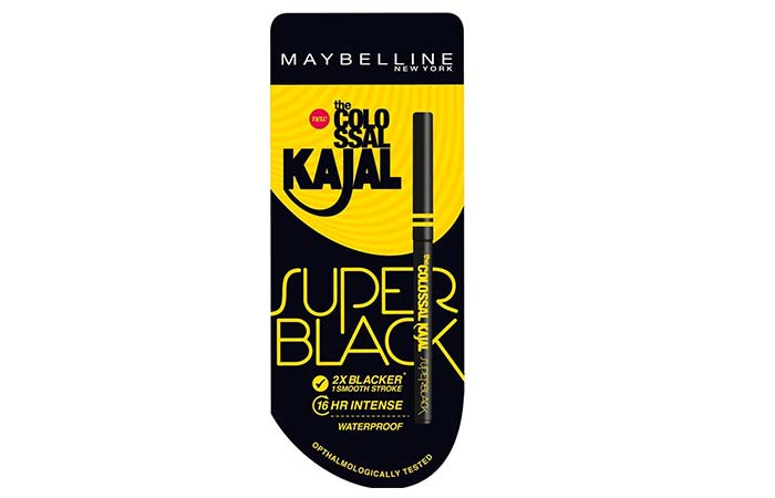Best Kajals and Kohl Pencils in India - 5. Maybelline New York Colossal Kajal Super Black