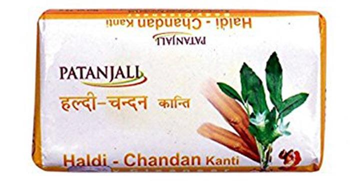 5. Patanjali Haldi Chandan Kanti Soap