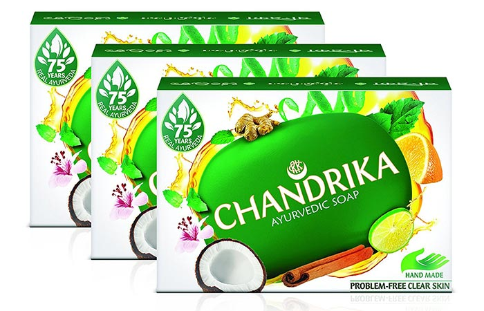 7. Chandrika Ayurvedic Soap