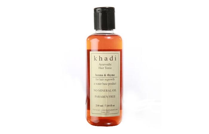 7. Khadi Ayurvedic Hair Tonic Henna And Thyme