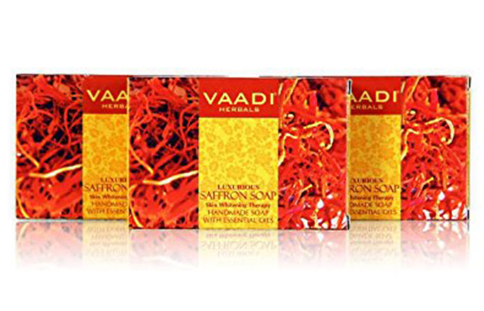 7. Vaadi Herbals Value Luxurious Saffron Soap, Skin Whitening Therapy