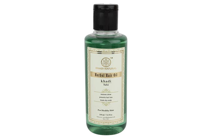 9. Khadi Tulsi Hair Oil