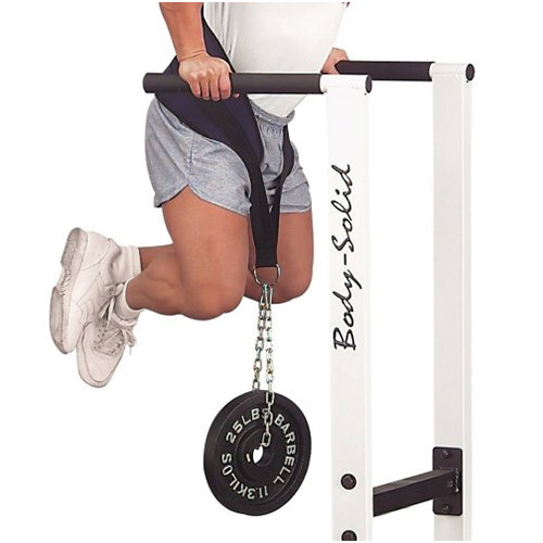 Belt + chain weighted dips
