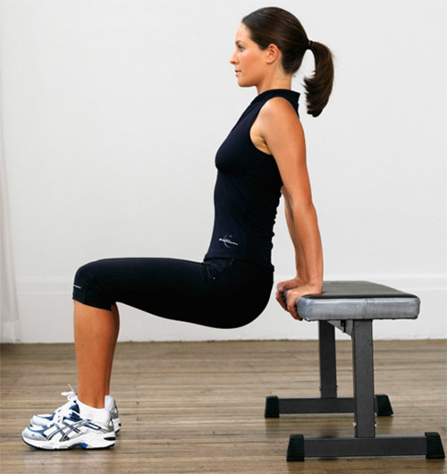 Dips Exercises - Bench dips