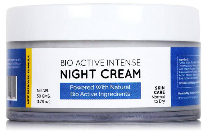 Bio Active Intense Night Cream - Face Creams For Dry Skin