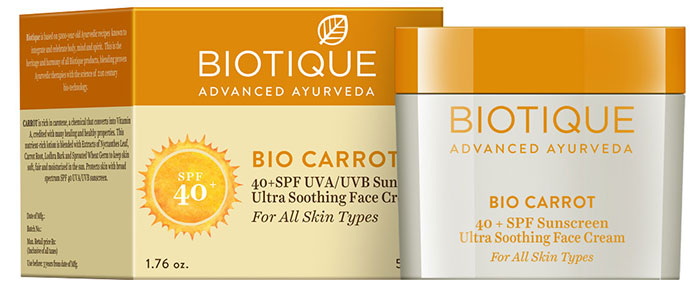 Biotique Bio Carrot Ultra Soothing Face Cream