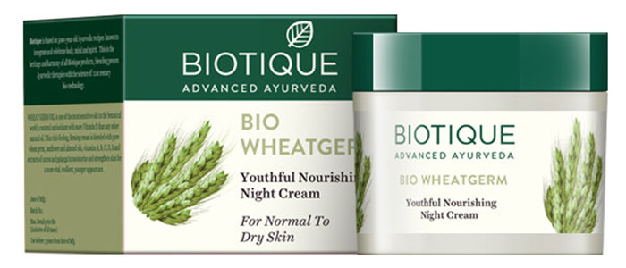 Biotique Bio Wheat Germ Youthful Nourishing Night Cream - Face Creams For Dry Skin