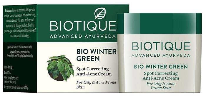 Biotique Bio Winter Green Spot Correcting Anti-Acne Cream - Anti-Acne And Anti-Pimple Creams