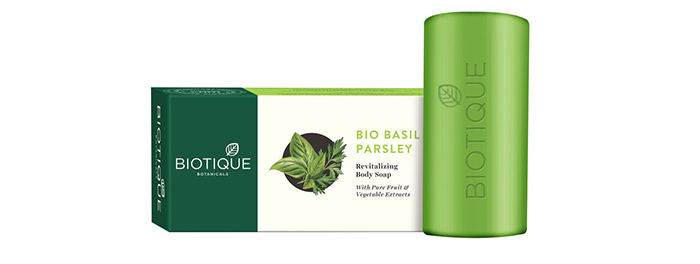 Biotique Botanicals Bio Basil Parsley Revitalizing Body Soap