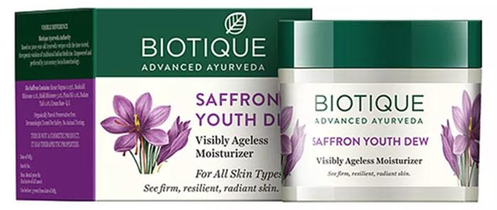 Biotique Saffron Youth Dew Visibly Ageless Moisturiser