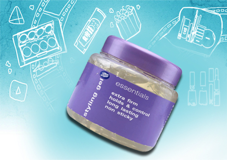 Boots Essentials Extra Firm Hold Hair Styling Gel