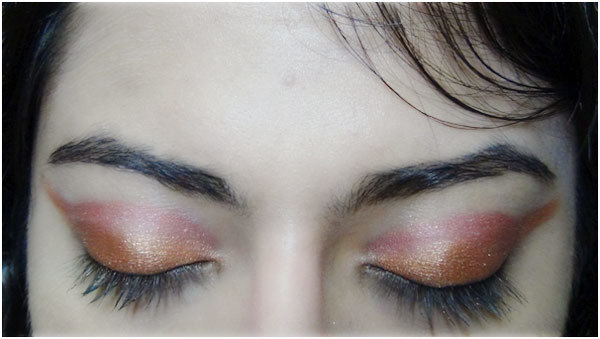 Bronze eye makeup 5