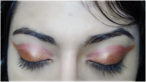 Bronze eye makeup 6