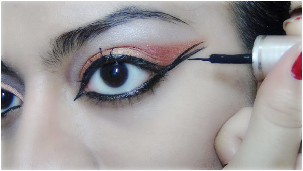 Bronze eye makeup 9