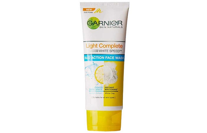 Garnier Skin Naturals Light Complete White Speed Duo Action Face Wash