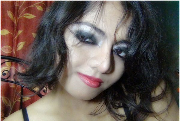 Gothic Eye Makeup Final Look