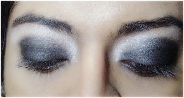 Gothic Eye Makeup Tutorial - Step 4: Apply Black Matte Eyeshadow