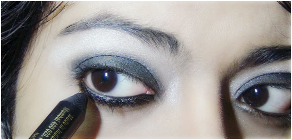 Gothic Eye Makeup Tutorial - Step 5: Apply Black Pencil Liner