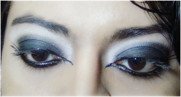 Gothic Eye Makeup Tutorial - Step 6(B): Look With Winged Formation