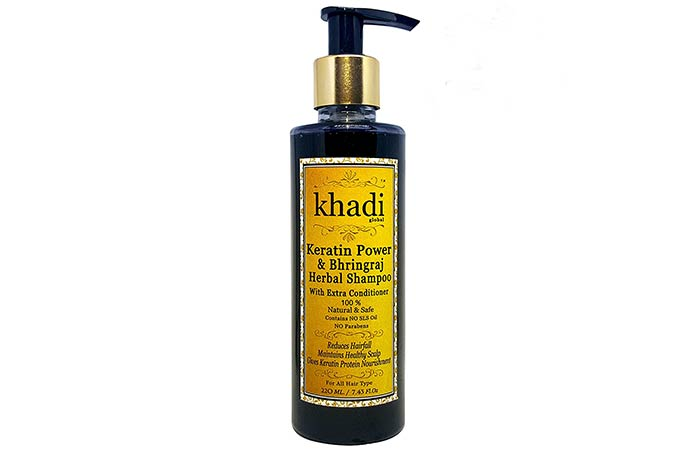 Khadi Global Keratin Power And Bhringraj Herbal Shampoo