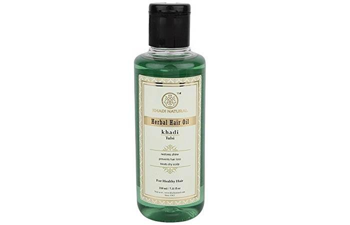 Khadi Natural Tulsi Herbal Hair Oil - Hair Growth Oils