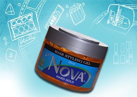 Nova Hard Hold Hair Styling Gel - Aloe Vera