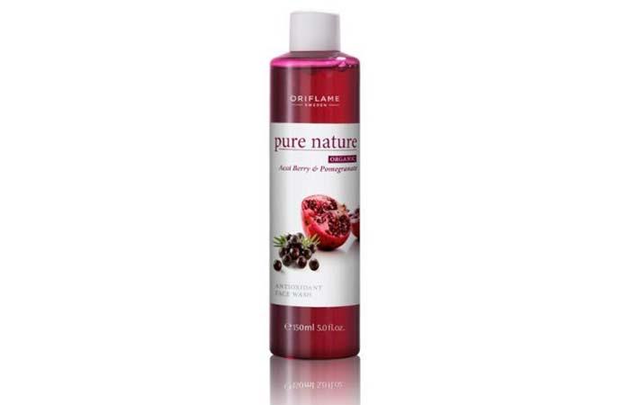 Oriflame Pure Nature Organic Açai and Pomegranate Antioxidant Face Wash