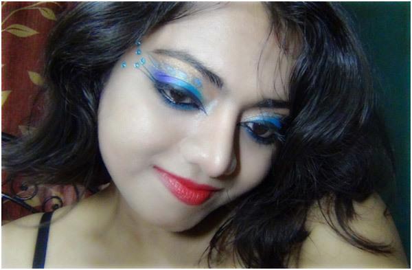 Peacock Eye Makeup 16