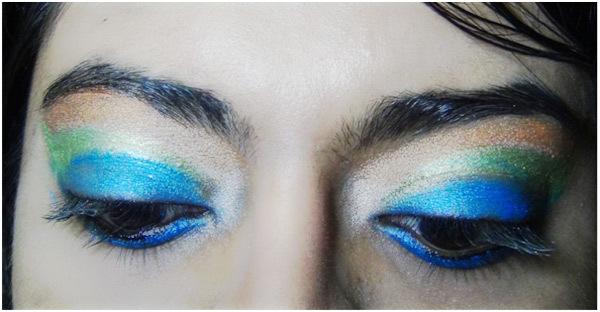 Peacock Eye Makeup 7
