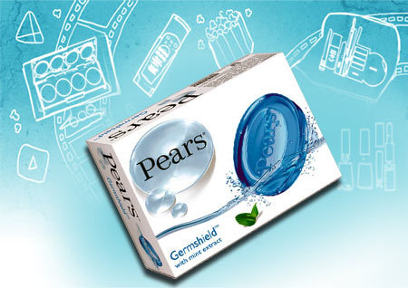 Pears Germ Shield with Mint Extract Soap