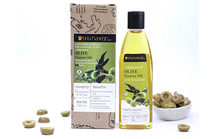 Soulflower Coldpressed Olive Carrier Oil - Hair Growth Oils
