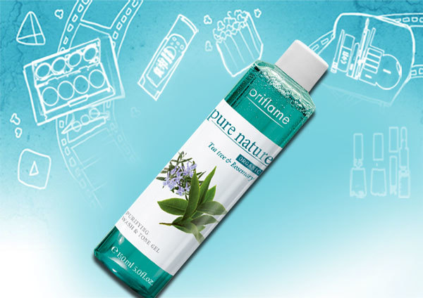 Tea Tree and Rosemary Purifying Face Wash and Tone Gel