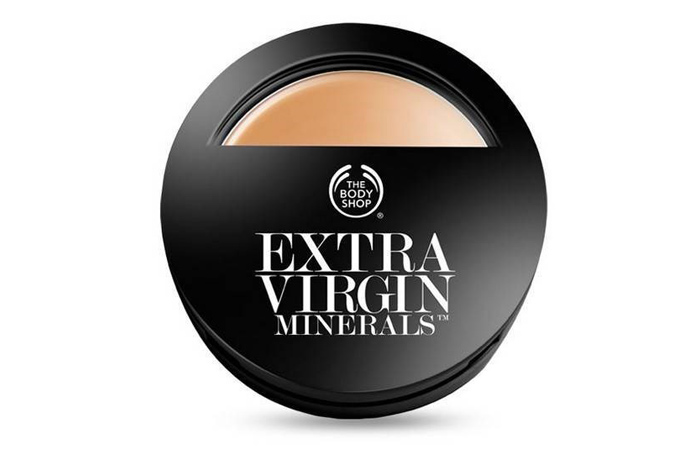 The Body Shop Extra Virgin Minerals Cream Compact Foundation SPF 15 - Best Compact Powder in India