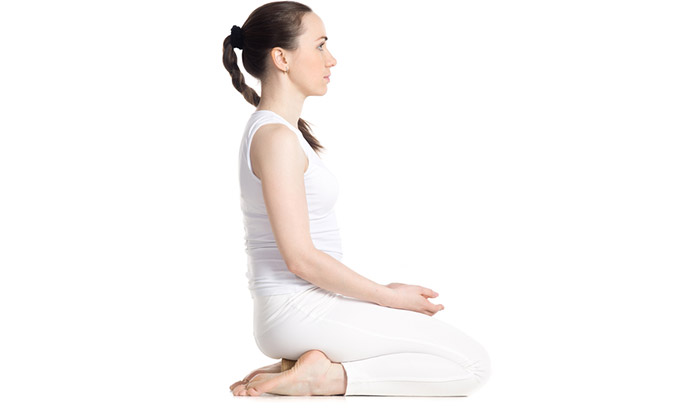 Vajrasana - Yoga For Weight Gaon