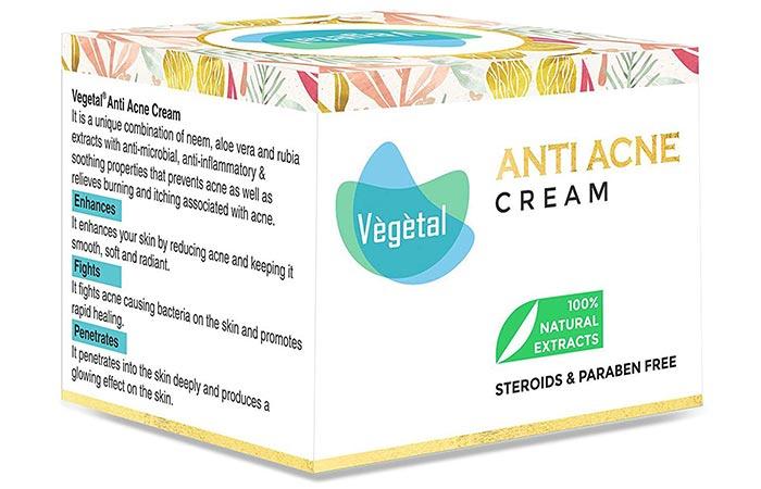 Vegetal Anti Acne Cream - Anti-Acne And Anti-Pimple Creams
