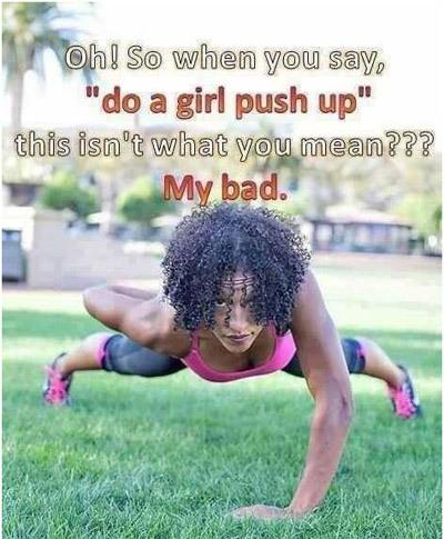 girl push ups