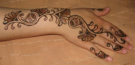 glitter mehndi designs 7