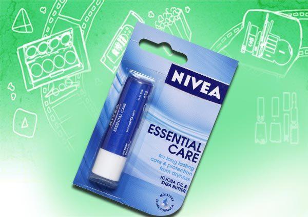 nivea essential care lip