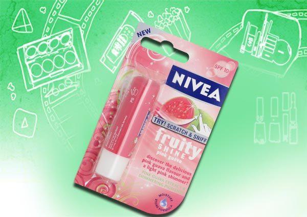 nivea fruity shine lip balm pink guava