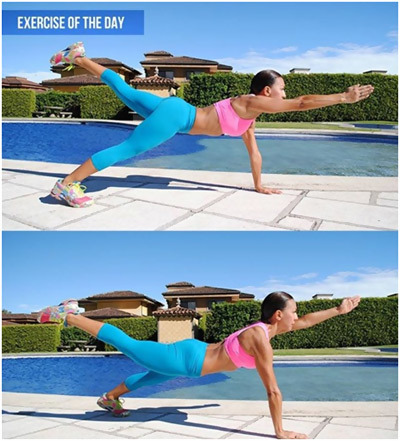opposite arm and leg lift