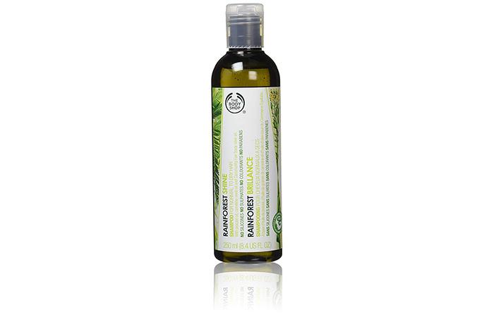 1. The Body Shop Rainforest Shine Shampoo