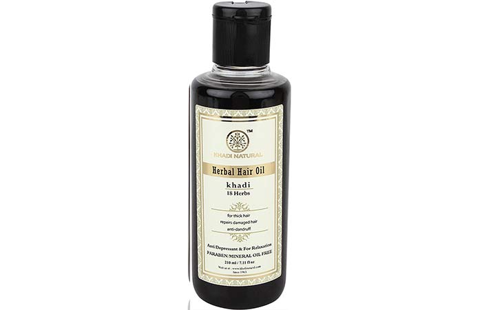 1. Khadi Naturals Herbal Hair Oil