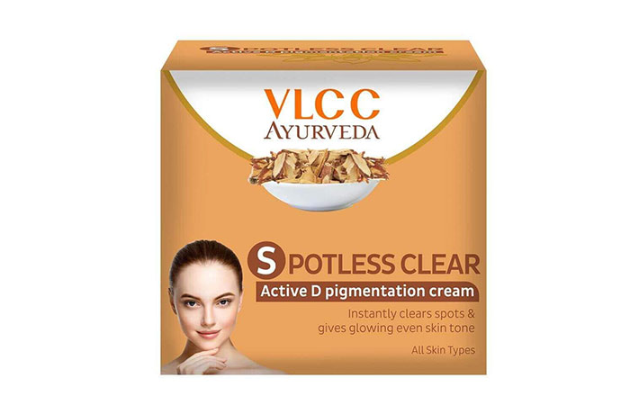 10. VLCC Spotless Clear Active D Pigmentation Cream