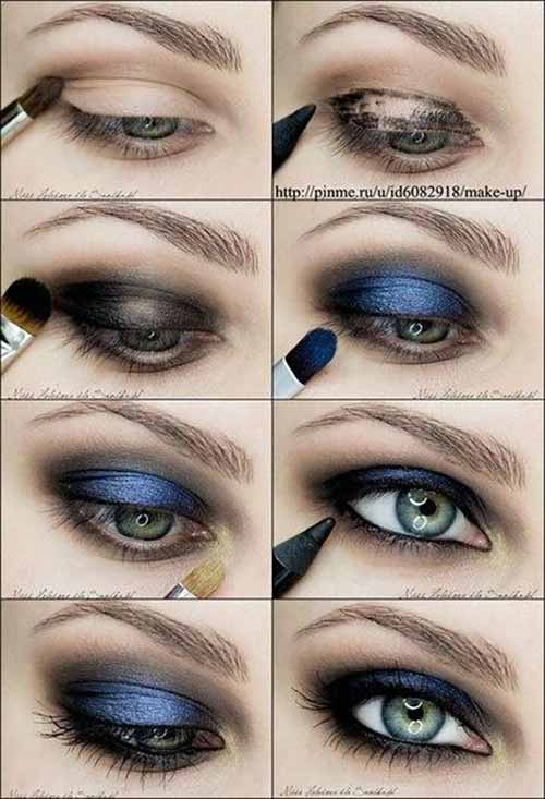 Metallic Blue Smokey Eyeshadow