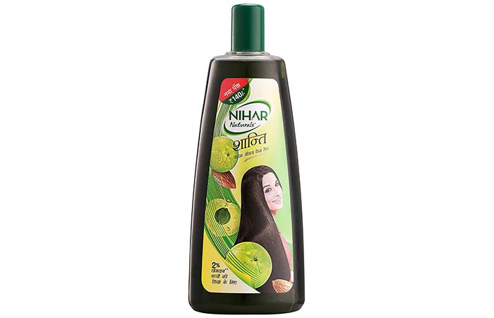 Nihar Naturals Shanti Badam Amla Hair Oil - Oils For Dry Hair